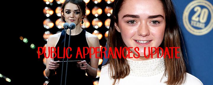 Public Appearances updates